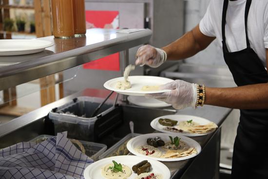 Cuisine végétarienne appétissante chef