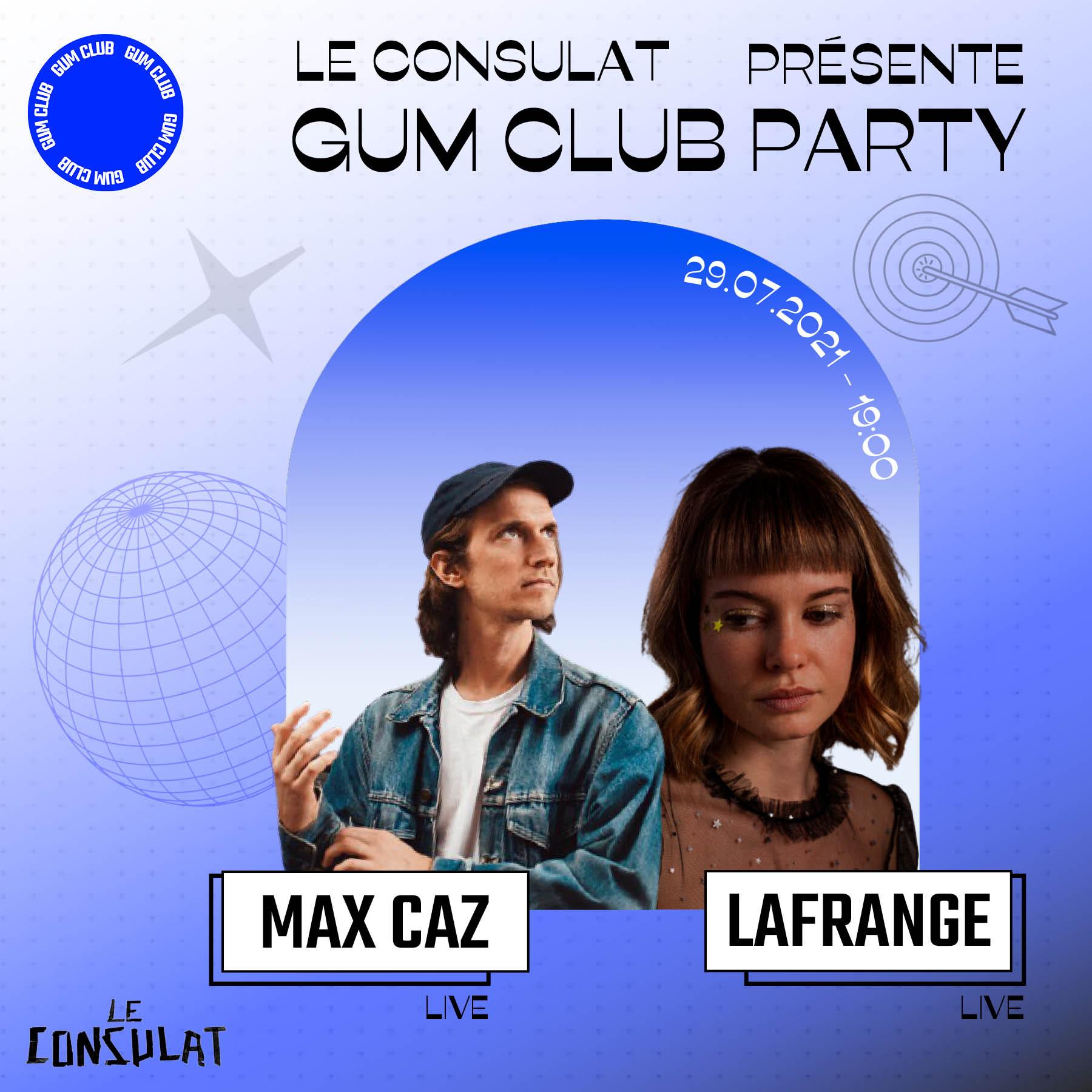 Le live Gum Club Party avec Max Caz et LaFrange